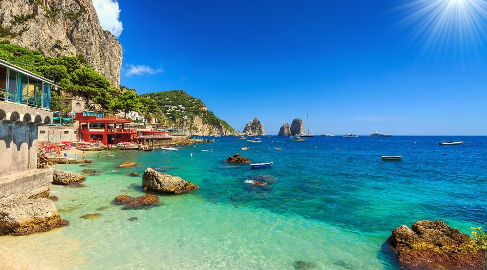 Capri coastal view