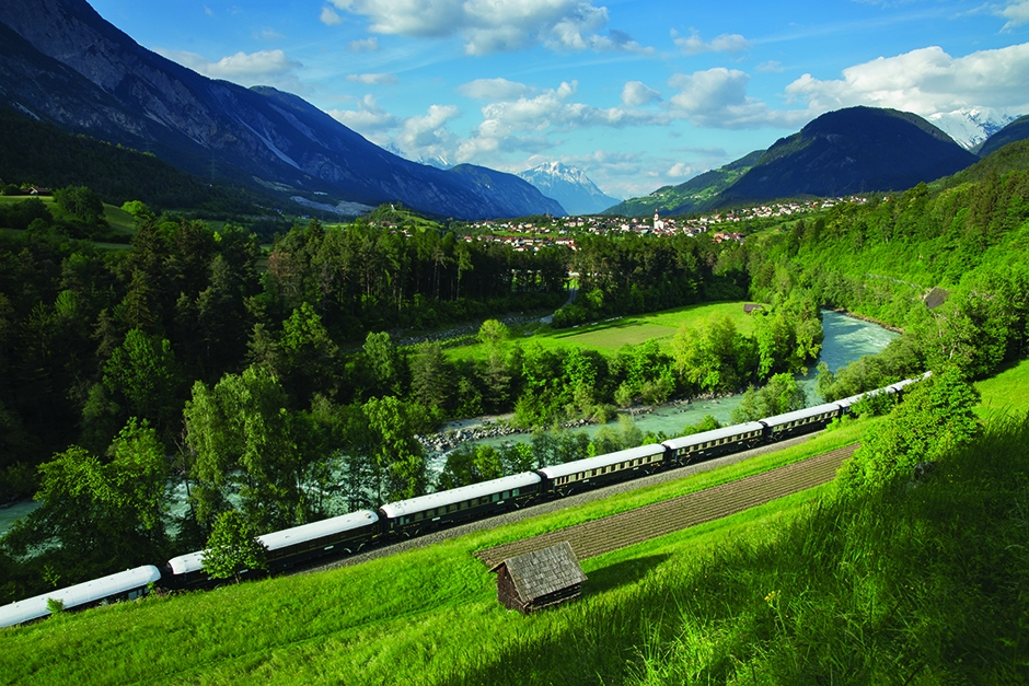 the Venice Simplon-Orient-Express transports riders back to the golden age of travel in grand style